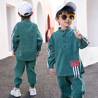Children's Clothing Children's Clothing Sets Boys'Suit Corduroy In Spring